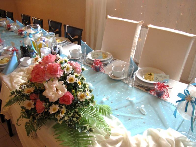 Dekoracja błękitna - wesele