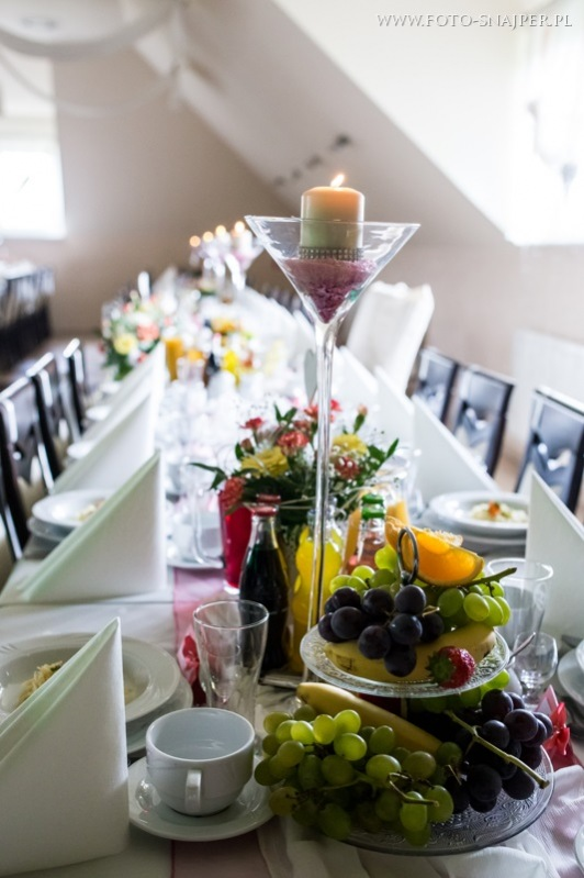 Dekoracja blado-różowa - wesele