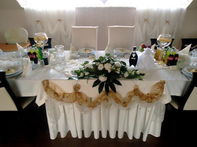 Dekoracja kremowo beżowa - wesele