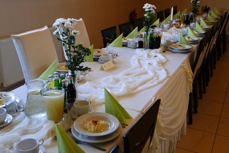 Zielona dekoracja - sala weselna opole