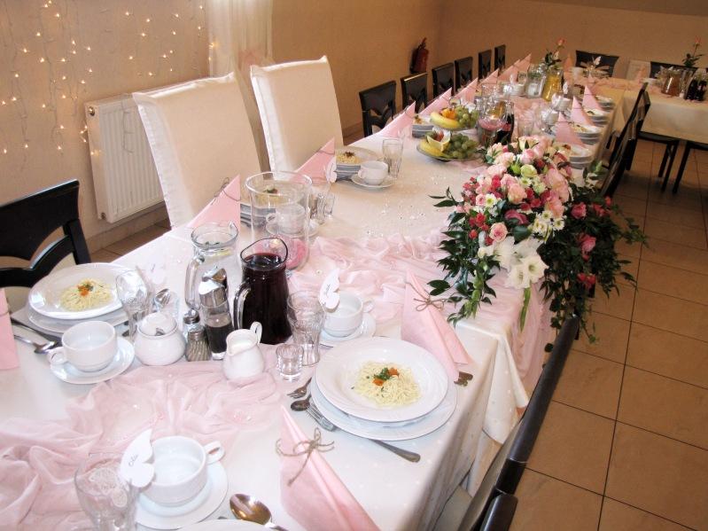 Delikatny różowy - sala weselna
