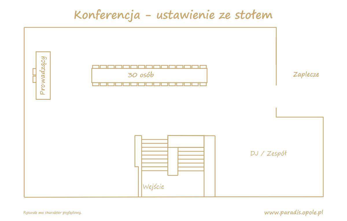 Konferencja - ustawienie ze stołam