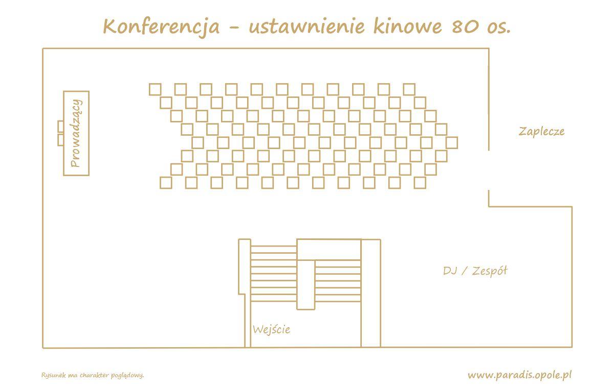 Konferencja - ustawnienie kinowe 80 os